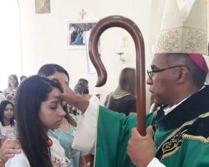 Crisma realizada na Paróquia Nossa Senhora Aparecida em Ilicínea- MG